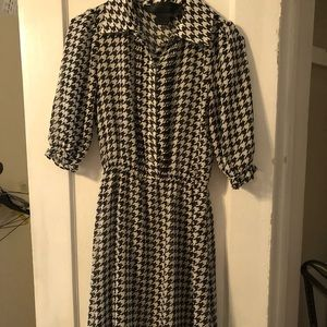 Dresses & Skirts - Houndstooth Sheer Dress with Black Slip